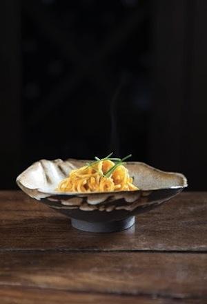 fish and game sea urchin pasta